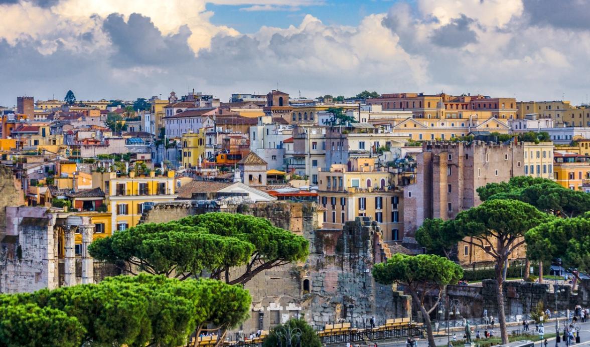 pohled na Řím